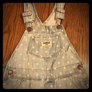 Toddler Girls Jean overalls
